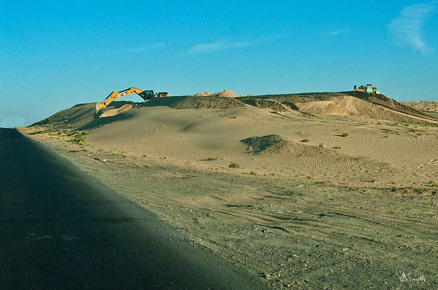 sandgravning